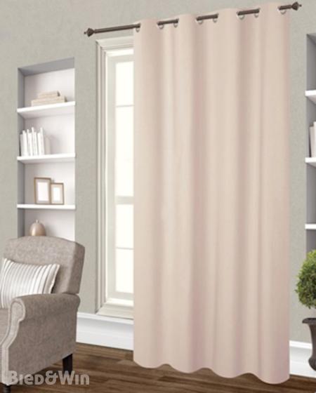 Kant en klare polyester gordijnen met ring L140 H 260 cm , beige ...
