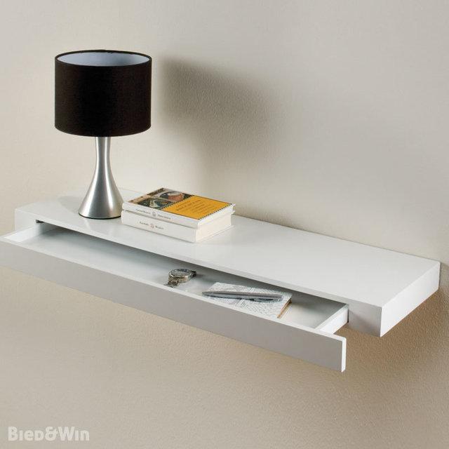 Zwevende Plank Met Lades.Zwevende Wandplank Met Lade Wit Duraline Biedenwin Nl