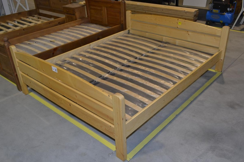Persoons bed massief hout afmeting lxb ca cm incl