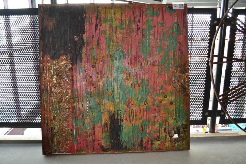 Wanddecoratie, hout, afmeting hxb ca. 100x100cm - Onlineveilingmeester ...